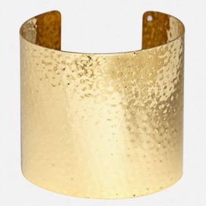Jewelry - hammered gold cuff slave bracelet